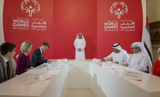Agreement for Special Olympic World Games 2019 Abu Dhabi